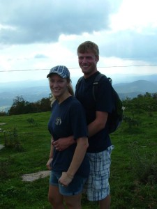 Laura and Nate enjoying the view from Bearwallow